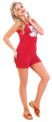 Костюм женский домашний М-367К, цвет красный, размер 52 - фото 703044205