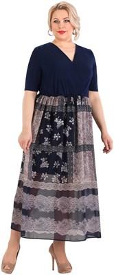 Платье женское М-401/16, цвет темно-синий, размер 54 - фото 703045901