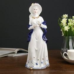 Сувенир керамика  Девушка с голубем в руках  кобальт 31х10,5х12 см - фото 707466918