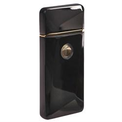 Зажигалка электронная, USB, спираль, чёрная с выпуклым рисунком, 7.5х12 см - фото 756182505