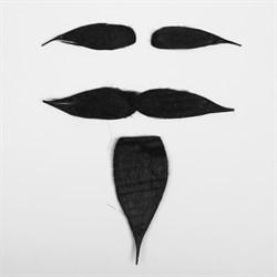 Карнавальная борода «Брутал», с усами и бровями - фото 798900347