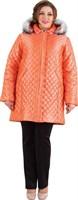 Полупальто женское М-624/17, цвет оранжевый, размер 54