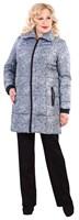 Полупальто женское М-628/19 + пояс, цвет серый, размер 56