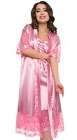 "Халат женский ""Фея"" АХ-1219, цвет розовый, размер 46"