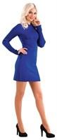 Платье женское Ж-451, цвет электрик, размер 48