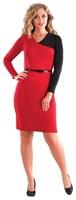 Платье женское Пл-595+пояс, цвет красный, размер 48