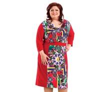 Платье женское М-236/13, цвет красный, размер 52