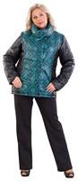 Куртка женская М-200/15, цвет черный/розовый, размер 60