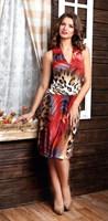 Платье женское М-312/15, цвет красный, размер 46
