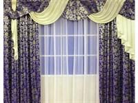 "Комплект штор для комнаты ""Пальмира"", цвет зеленый"