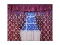 """Комплект штор для комнаты """"Диана"""" 250см, цвет салатовый"""