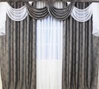 """Комплект штор для комнаты """"Венеция"""" 250см, цвет бежевый"""