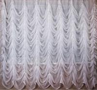 Французские шторы, цвет белый