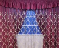 """Комплект для спальни """"Диана"""" (шторы 250см +покрывало), цвет золотой"""