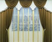 """Комплект штор для комнаты """"Маркиза"""" (3,5 м х 250 см), цвет бежевый"""