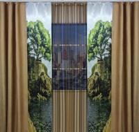 """Комплект штор для комнаты """"Этюд"""" (3м х 250см), цвет коричневый"""
