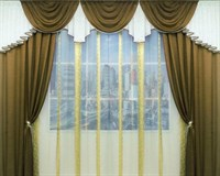 "Комплект штор для комнаты ""Маркиза"" (3,5 м х 250 см), цвет сиреневый"