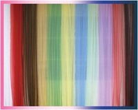 Тюль однот/цвет (органза) 4х2,5 м, цвет бордовый