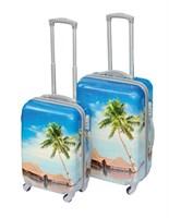 """Комплект чемоданов """"Райский уголок"""" (малыш+средний)"""