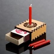 Набор ларец желаний  Притяжение любви  со свечками, 5,2х4,5х2 см