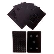 Карты игральные пластик  Абстракция , 54 шт, чёрные матовые, 32 мкр, 9х6 см