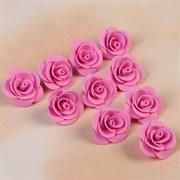 Набор цветов для декора из фоамирана, D=3 см, 10 шт, розовый