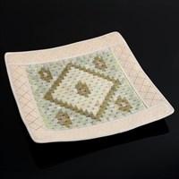 Нефритовый коврик, квадратный, люкс, 43×43 см, нефрит