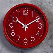 Часы настенные, серия: Классика,  Джойс , красные, d=19.5 см