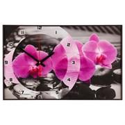 Часы настенные, серия: Цветы,  Магия Орхидей , 37х60  см, микс