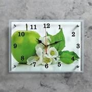 Часы настенные, серия: Кухня,  Яблоко , 25х35  см, микс