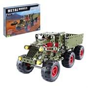 Конструктор металлический «Военный грузовик», 307 деталей