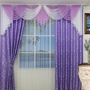 """Комплект штор для комнаты """"Каролина"""" (4м х 2,7м), цвет бордовый одинаковый"""