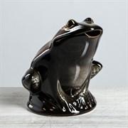 Копилка  Жаба , глазурь, коричневый цвет, 21 см, микс