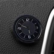 Часы автомобильные, внутрисалонные, диаметр 4.5 см, черный циферблат