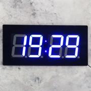 Часы настенные электронные  Элегант , синие цифры, 47.5х3.5х23 см