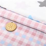 Набор ткани для пэчворка 100% хлопок «Нежная ночь», 2 лоскута 45 × 75 см, 50 × 105 см