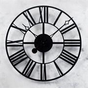 Часы настенные, серия: Интерьер, из металла  Время , стиль лофт, диаметр 45 см  микс