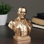 Бюст Ленин большой бронза,золото, 8х14х18 см