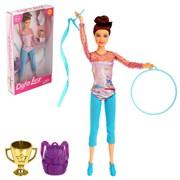 Кукла модель  Гимнастка  с аксессуарами МИКС